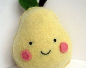Yellow Pear Foo - Recycled Cashmere Plush Toy