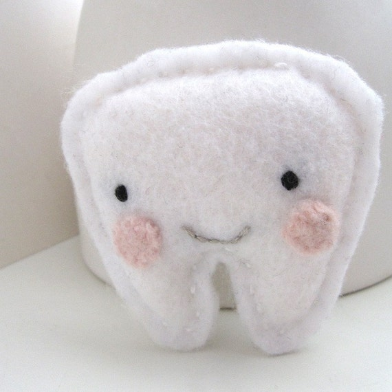 Mr. Happy Tooth - Tooth Fairy Pillow