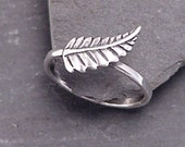 NEW LEAF Sterling Silver Leaf Ring  Handcrafted