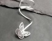 Sterling Butterfly Ear Cuff     FLUTTERBY   Silver Ear Wrap