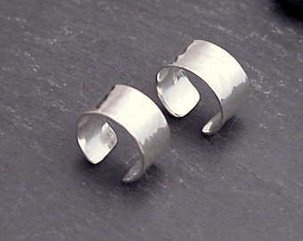 Sterling EAR CUFF PAIR - Medium Hammered Silver Ear Bands