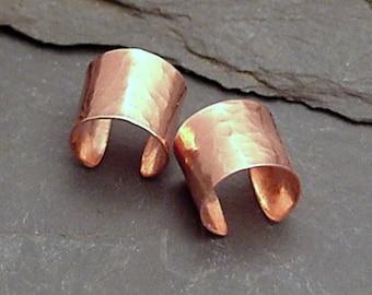 EAR CUFF PAIR Copper Wide Ear Bands