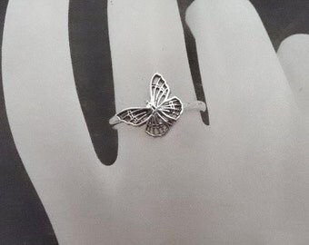 Sterling  Silver Butterfly Ring  FLUTTERBY   925 Handcrafted Silver Ring