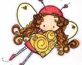 Valentines Bugg- Love digital stamp