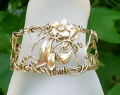 Flower Filigree Wire Wrap Cuff bracelet