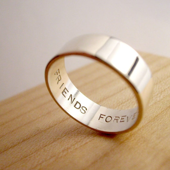 secret promise ring friends forever any size