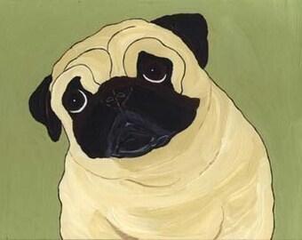 Pug Print - A46 - Fawn Pug