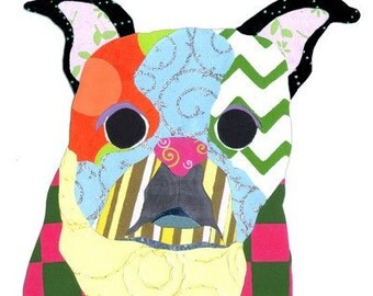 Collage Note Cards - Boston Terrier