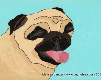 Pug Print - A81 - Pug Bliss
