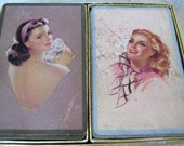 SALE 1940s Vintage Playing Cards Beautiful Women SALE