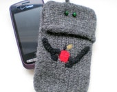 Smartphone, iPhone, Droid Razr Felted Case - Robot Apple