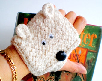 Women Glove / Cuff Wrist Wallet (to carry id, badges, mp3, iPod, etc) - Choice of Bear
