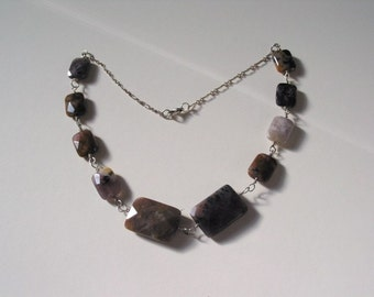 Earthy Necklace with Sterling Silver