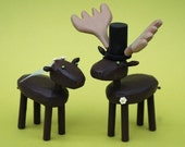 Bride and Groom Mooses for your Wedding Cake