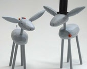 Custom Bride and Groom Donkeys - reserved for Jess Dahlgren