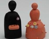 Flower Girl and Ring Bearer Wedding Cake Toppers