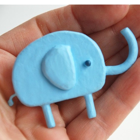 lucky blue elephant pin - SUPER SALE