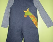 Retro giraffe jumpsuit size 6months 1T 2T 3T