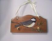 Chickadee Wooden Key Holder