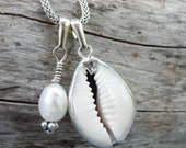 Sea Treasure Collection - Cowry Shell and Pearl Necklace