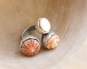 Sea Urchin Collection - The Pink Trio Ring
