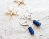 Deep Blue Sea - Coral Earrings
