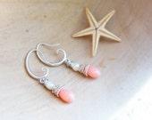 Pink Coral Earrings - Romantic Sea