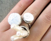 Sea Urchin Collection-The White Trio Ring