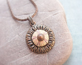 Sea Urchin Copper Pink Necklace (last one)