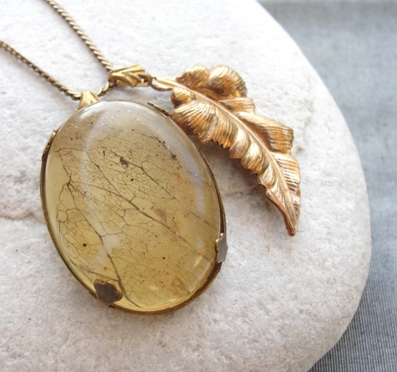 The Wonder Cabinet Collection- Skeleton Leaf Necklace