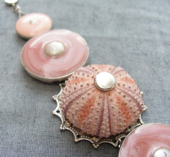 Sea Urchin Collection - Special Pink Enamel Bracelet