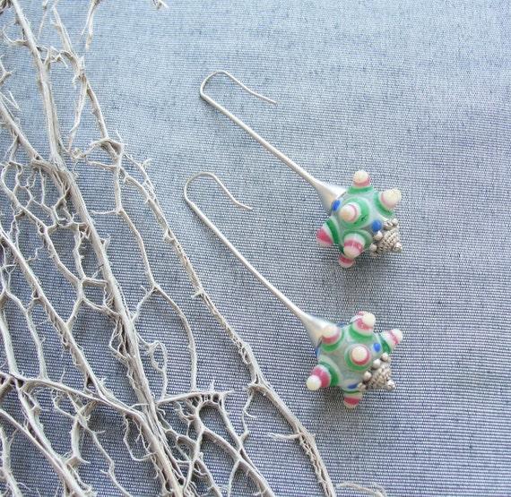 Happy Dots Lampwork Earrings