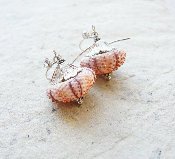 Sea Urchin Earrings - Special Dainty Pink Earrings