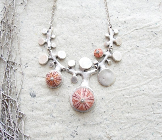Sea Urchin Collection - Organic Pink Necklace (last one)