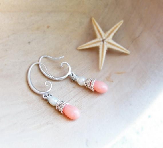 Romantic Sea - Coral Earrings