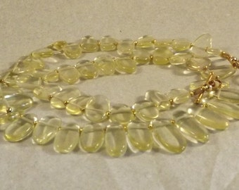 Lemon Quartz  Necklace AAA rare gemstone handmade OOAK