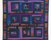 Quilt, Wall Hanging, Improvised Log Cabin