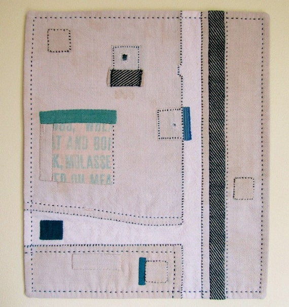 Rural Roads - Patched and Stitched Textile Artwork
