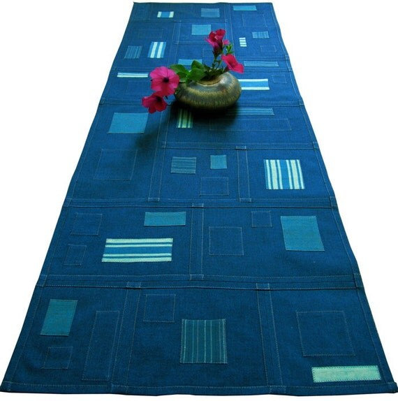 Pojagi Patchwork Table Runner - Reversible, Textile Art