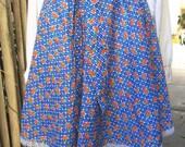 Spring Picnic vintage floral print skirt