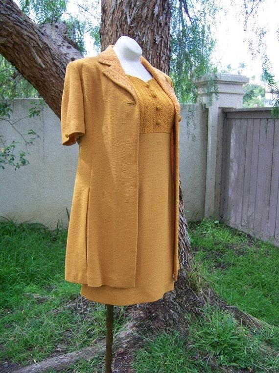 Pleasure is my Business vintage ladies dress and jacket set
