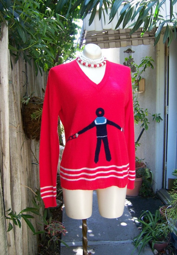 Hellooo Sailor vintage novelty sweater by Shirlee Designs