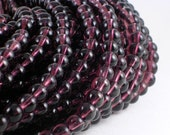 6mm Purple Glass Beads Round 5 Strands (GB39A)