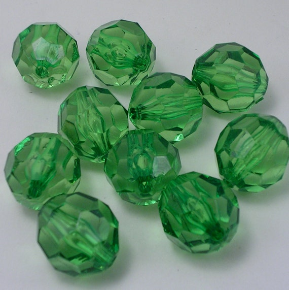 20mm Emerald Green Jumbo Acrylic Beads (AB71)
