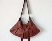Aleina  Leather Bag in Brick Colour - The Last One
