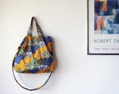 Amelie Slouchy  Bag  with Adjustable Strap and Double Handles in Javanese Batik
