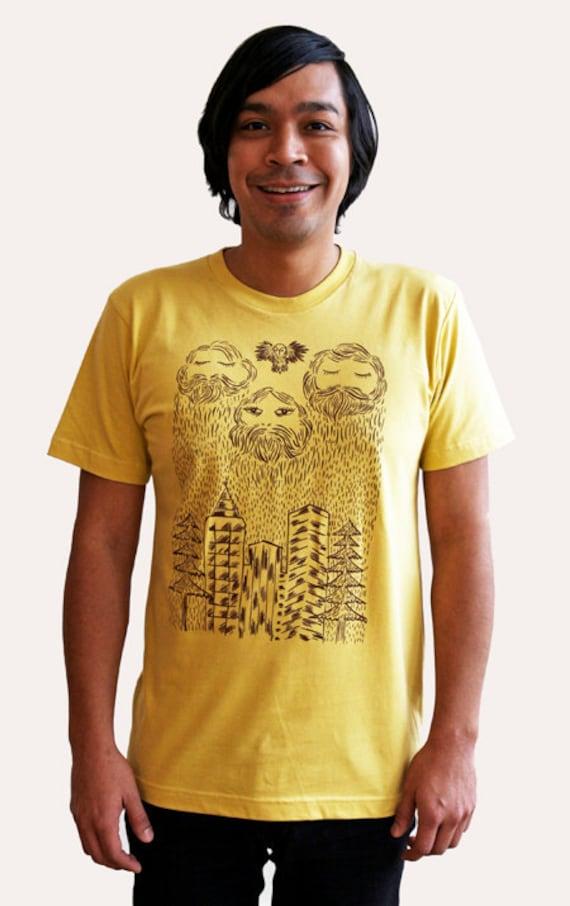 SALE /// Rainy Bearded City Shirt
