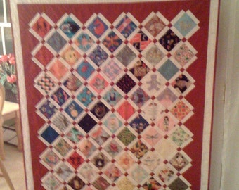 Baby clothes quilt