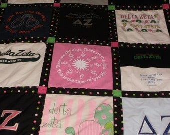 Custom Memory T-Shirt Quilt for Kate
