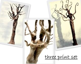 tree couple three print set